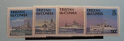 Tristan da Cunha Stamps, 1994,Ships of Royal Navy, SG565-568, Mint never hinged