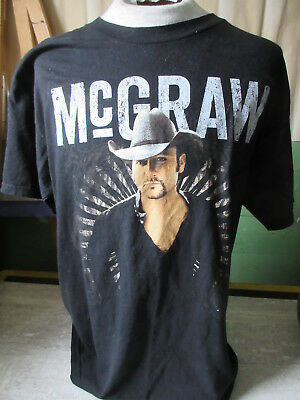 2009 Tim McGraw Canadian Tour T-Shirt Alstyle Size Large