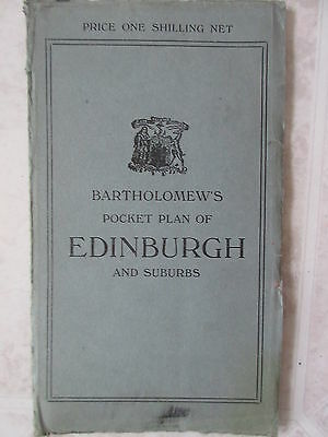 Antique Vintage Bartholomew's Half-Inch to Mile Map to Scotland
