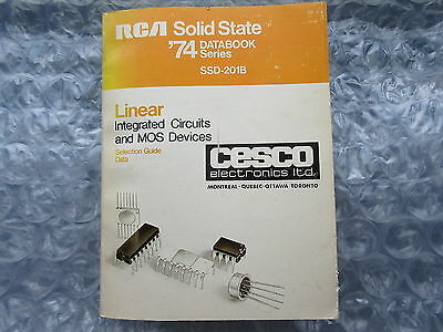 Old 1974 RCA Solid State Linear Integrated Circuits Book MOS Databook