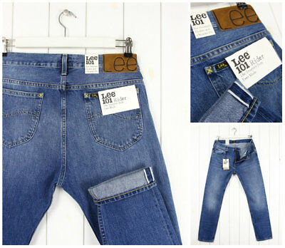 pretty nice outlet boutique speical offer NEW LEE 101 RIDER 13oz JEANS SELVAGE DENIM TAPERED SLIM FIT LUKE ___ ALL  SIZES