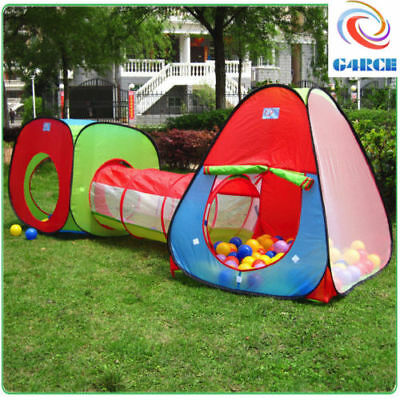 3pcs Children Kids Baby Play Tent And Tunnel Ball Pit Playhouse pop up XMAS Gift