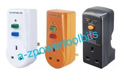 RCD Power Circuit Breaker Socket Safety Plug Test Reset Switch Master Plug