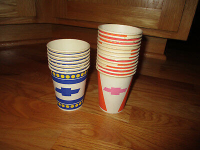 Original Chevrolet Dealer Cups, GM Advertising, Bowtie, Car Dealer, NOS Cups