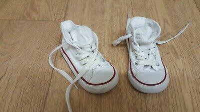 Converse All Star Girls Or Boys White Boots - Trainers - Uk 5 - Infant Size