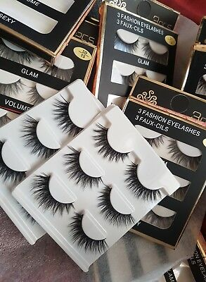 New 3D 4D Real Mink Luxury Lashes Celebrity Kim Kylie Unicorn Huda Lilly 3 Pack