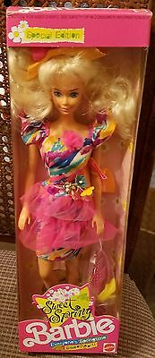 Sweet Spring Barbie Doll Blonde Pink Dress NRFB Sweetheart 1991 HTF Special Rare