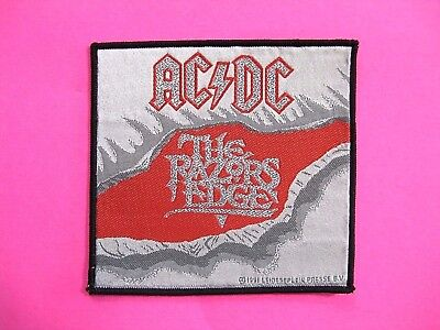 """Ac/dc Official 1991 Woven Vintage Patch Uk Import  Sew - On   """"the Razors Edge """""""