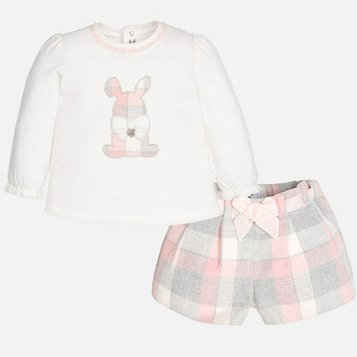 Mayoral Infant Girls long Sleeve T-shirt and Shorts set (02215) aged 18,24,36mth