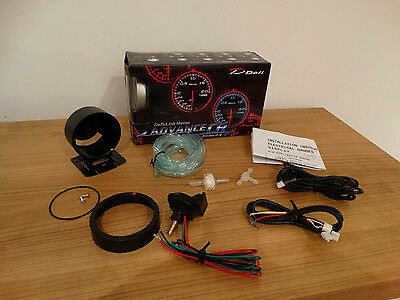 Advance CR Link Meter Defi Style 60mm Turbo Ladedruckanzeige 1.8T 2.0T 2.2T 2.7T