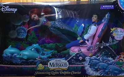Little Mermaid Special Edition Shimmering Lights Dolphin Chariot - New In Box!