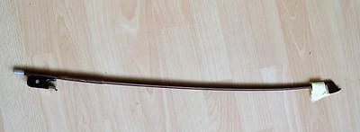 "vintage German cello bow rich red stick cross mark 26.3/4 "" long weight 73.2  gr"