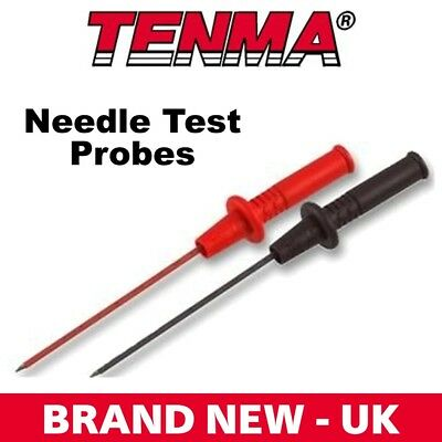 72-9320 Tenma Red Black Needle Test Probes MultiMeter Electronic Components NEW