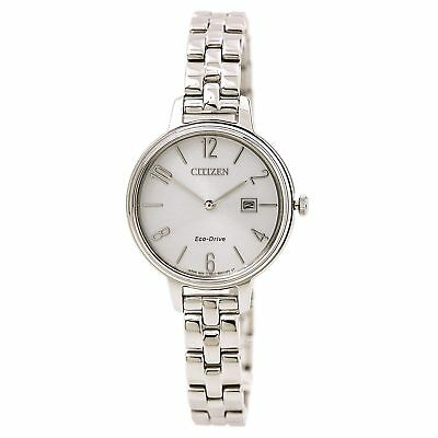 Citizen Eco Drive Women's Chandler Silver Toned Stainless Steel Watch EW2440-53A