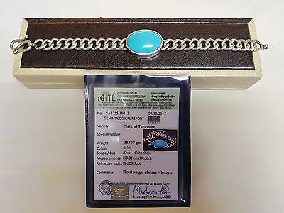 Original Salman Khan 925 Sterling Silver Bracelet with Turquoise for Men/Gents