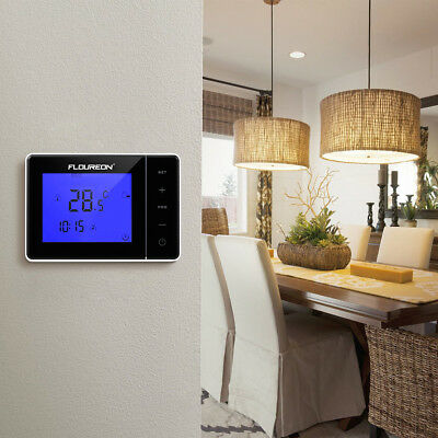 digital heizung lcd thermostat bodenf hler fu bodenheizung. Black Bedroom Furniture Sets. Home Design Ideas
