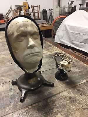 "Death Mask Cast Industrial Display ""Walter"" Mass Jones Studio"