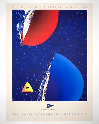 Louis Vuitton Cup San Diego 1995 Original Vintage French Poster Large Size