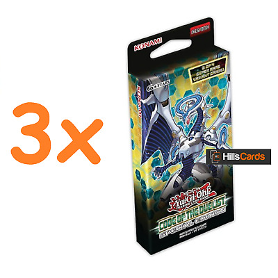 3x Yu-Gi-Oh Code of the Duelist Special Editions: 3 Sealed Packs of 29 Cards