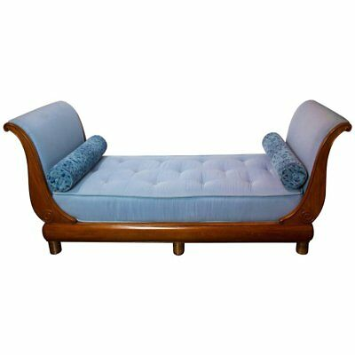 Chaise Longue Sleigh Style Daybed, 19th Century