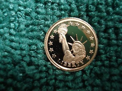Mini 14Kt Gold Coin Statue Of Liberty See Photo's