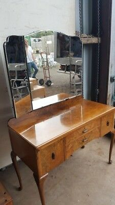 1940's Burr Walut Dressing Table