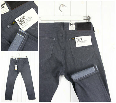 22817caa NEU LEE 101 RIDER DRY DENIM JEANS HOSE SELVEDGE SLIM TAPERED FIT LUKE-Alle  Große