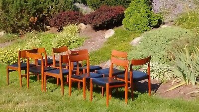 I have ten mid century Swedish modern dining room chairs. They are teak.