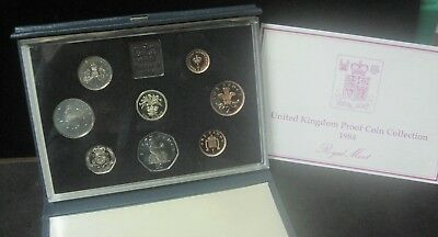 1984 UK Royal Mint 8-Coin Proof Set in nice Blue Case - ENN COINS