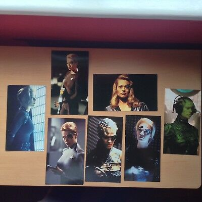 STAR TREK VOYAGER - JERI RYAN Seven of Nine photo stills postcards x7 - FAST P&P