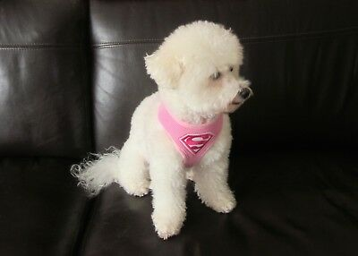 Dog Harness Puppy Superman Superhero Inspired Breathable Adjustable Pink Large