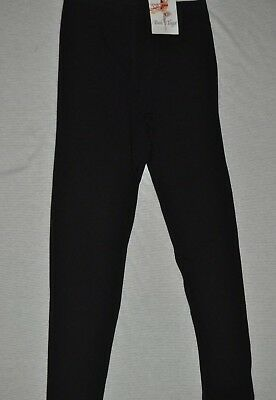 New Bal Togs Adult size small black cotton lycra  dance   leggings pants #3495