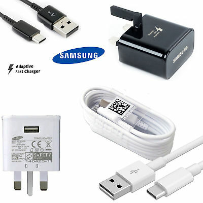 100% GENUINE FAST CHARGER PLUG & CABLE FOR SAMSUNG GALAXY S6 S7 EDGE Note 4 5