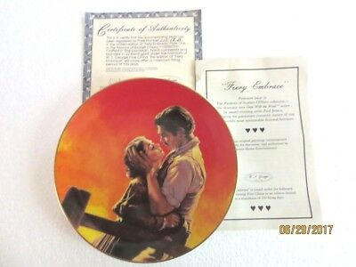 "Gone With The Wind - The Passions of Scarlett O'Hara - ""Fiery Embrace"" Plate"