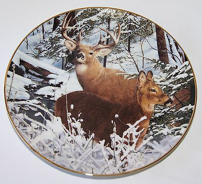 1992 Snowbound Collector Plate by Bob Travers Danbury Mint F2805