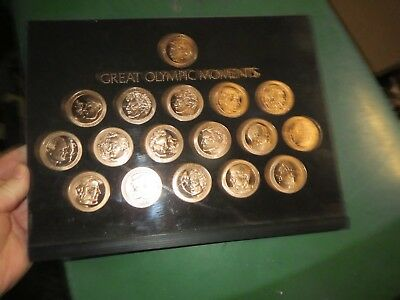 Franklin Mint Great Olympic Moments Coin Set  with 17 Coins from Olympic History