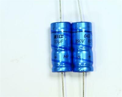 5 x Electrolytic Capacitor 15 µF 350V DC, 30mm x 12mm Vintage Valve Amp Repairs