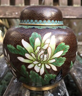 19/20th Century Chinese Cloisonné Ginger Jar