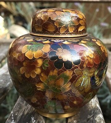 19/20th Century Small Chinese Cloisonné Ginger Jar