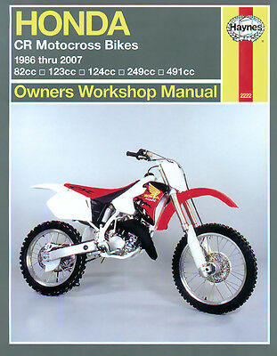 Honda CR80R CR125 CR125R CR250 CR250R CR500 CR500R 86-07 Haynes Manual 2222 NEW