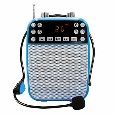 XIAOKOA Ultralight Portable Voice Amplifier With Wired Microphone MP3 PlayerS...
