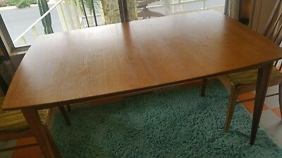 Mid Century (early 1960s) Solid Walnut Surfboard Dining Table with Two Chairs