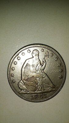 1847 Seated Liberty Half Dollar VF Details