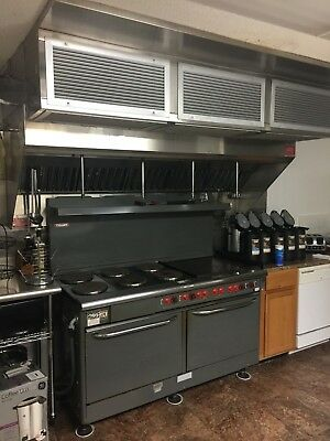 "Vulcan Oven E60F 60"" with Hood and Fire Suppression System Used NO RESERVE"
