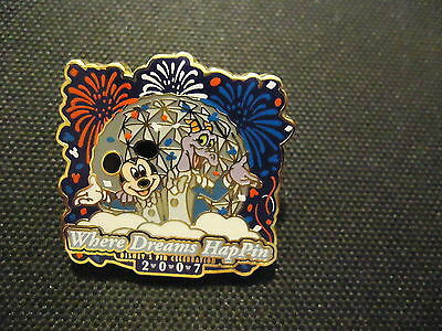 Disney Wdw Where Dreams Happin 2007 Event Figment And Mickey Welcome Pin Le 1400