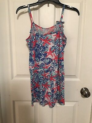 Lilly Pulitzer Girls Romper She She Shells Size XL (12-14)