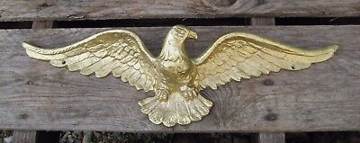 "18.25"" Solid Brass A5235 American Eagle Wall Plaque B7220"