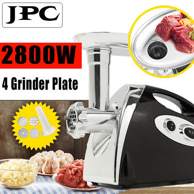 New Electric Meat Grinder Sausage Stuffer 2800W Industrail Commercial Home Using
