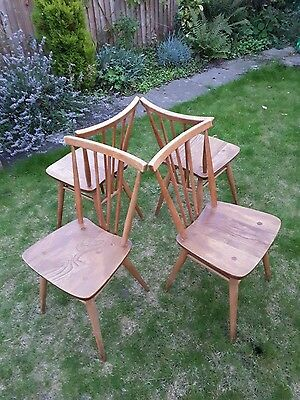 4 x Ercol 391 blue label chairs