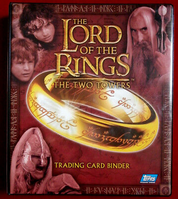 LORD OF THE RINGS - THE TWO TOWERS - OFFICIAL RING BINDER - Topps 2002